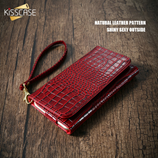 Abstract Crocodile Style Red iPhone Bag Case